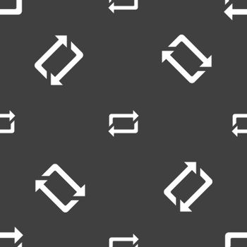 repeat icon sign. Seamless pattern on a gray background. Vector
