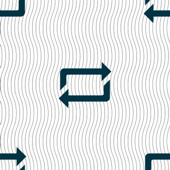 repeat icon sign. Seamless pattern with geometric texture. Vector