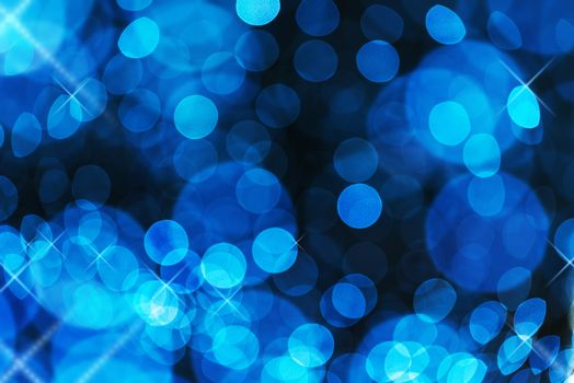 Abstract bokeh and star sparkles