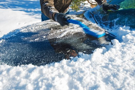 Snow Removal From Car