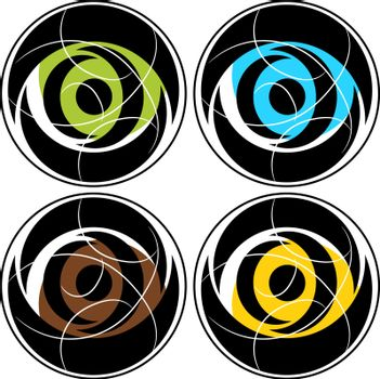 Abstract color circle vector
