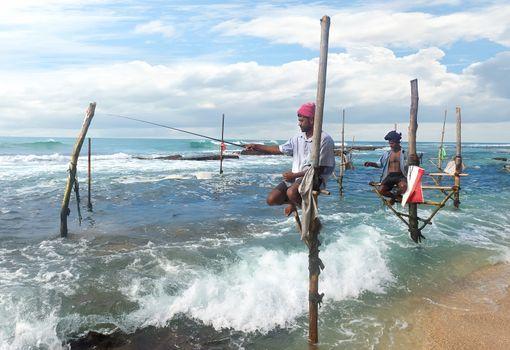 Fishermen on stick