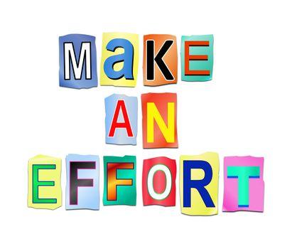 Make an effort concept.