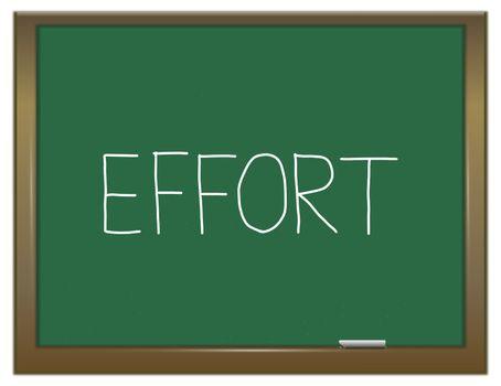 Effort education concept.