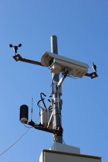Monitoring a highway with a video camera and weather sensors