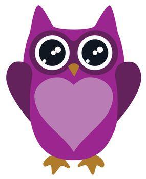 vector illustration of owl for valentine day