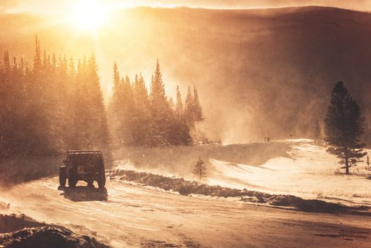 Extreme Winter Road Condition