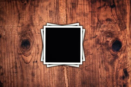 Blank square format photos as copy space