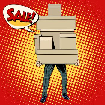 Buyer shopping sale