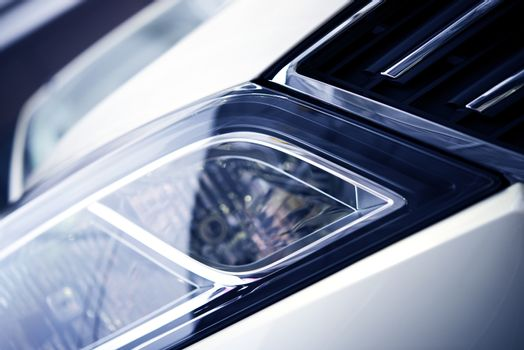 Car Headlight Closeup