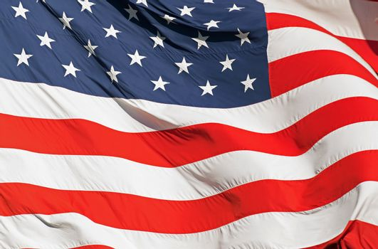 Waving Real American Flag