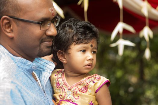 Candid shoot of Indian father and daughter