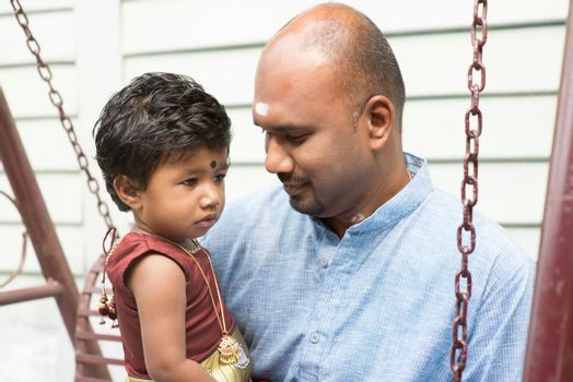 Indian parent and child outdoor