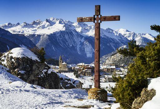 Aussois village France