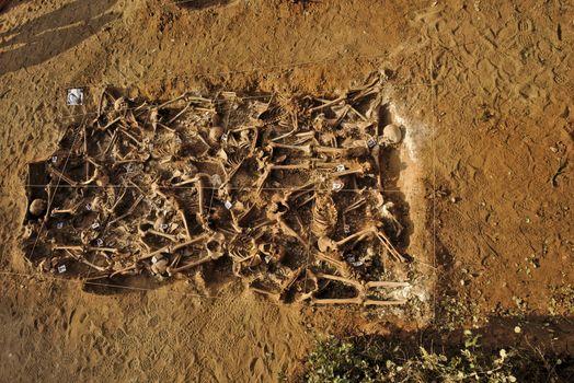 Mass grave of the Spanish Civil War (1936)