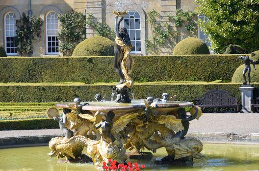 Ornate classical style Italian fountain