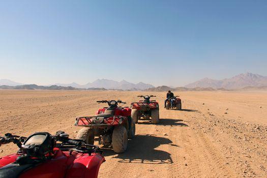 Pleasure ATVs in the Egyptian desert