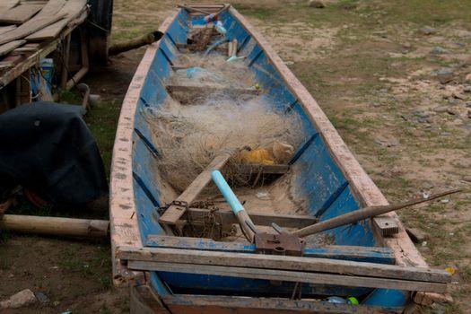 Boat across the Mekong River