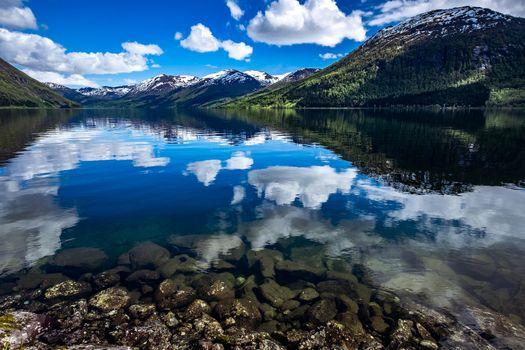 Beautiful Nature Norway natural landscape.