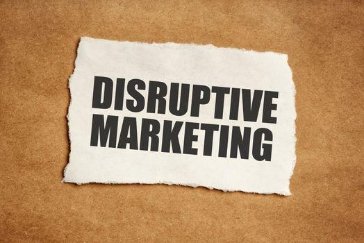 Disruptive marketing concept