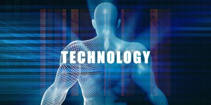 Technology as a Futuristic Concept Abstract Background