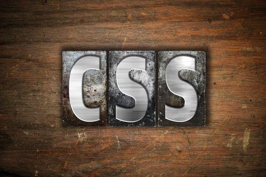 CSS Concept Metal Letterpress Type