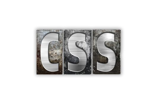 CSS Concept Isolated Metal Letterpress Type