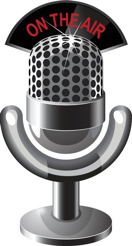 Retro steel microphone vector illustration in eps10