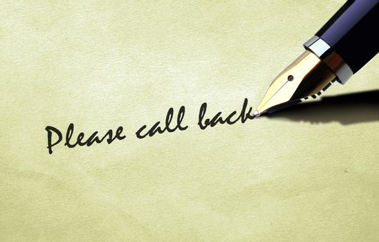 Pen writing please call back