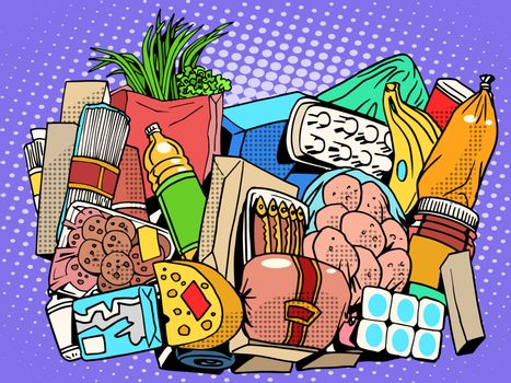 the set of products and food goods
