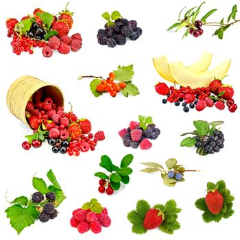 Berries and melon set