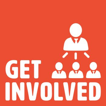 Composite image of get involved