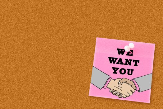 Composite image of we want you