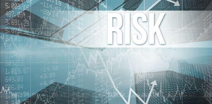 Risk against skyscraper