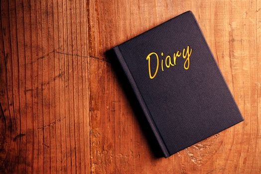 Diary notebook at the desk