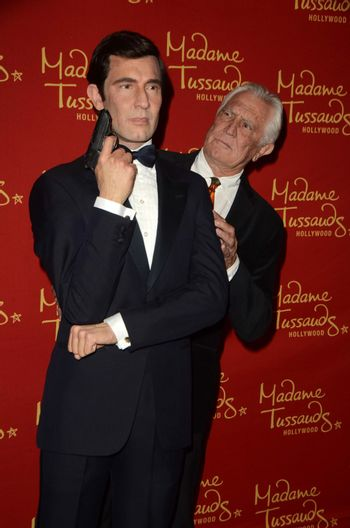 George Lazenby Madame Tussauds Hollywood Reveals All Six James Bonds In Wax. Madame Tussauds, Hollywood, CA 12-15-15/ImageCollect