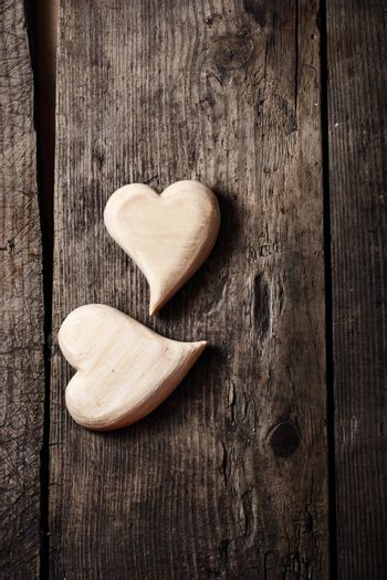 Symbolic of two hearts