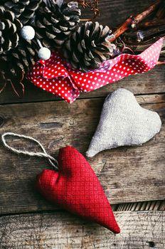 Two symbolic hearts