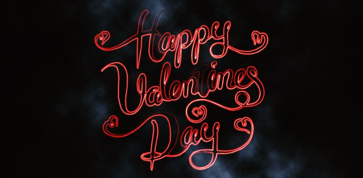 Happy Valentine day against dark background