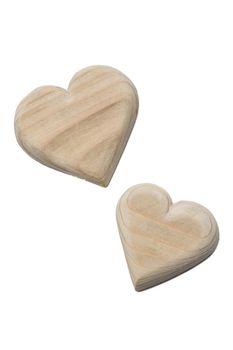 wooden hearts handmade