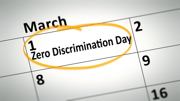 Zero Discrimination Day first of March