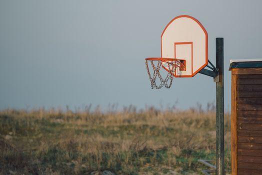 Basketball hoop for outdoor sport activity