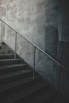 Urban concrete staircase
