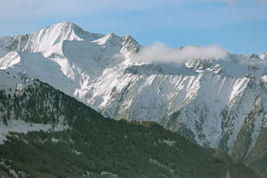 Mountain Range in Tyrol, Alps, Austria