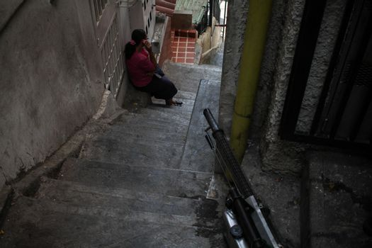 VENEZUELA, Caracas: A fumigation hose sits outside a home as workers exterminate mosquitoes carrying the rapidly spreading Zika virus in the slums of Caracas, Venezuela on February 3, 2016. As of February 4, there have been reports of at least 255 cases of the rare Guillain-Barre syndrome — which causes the immune system to attack the nerves — potentially linked to the Zika virus in Venezuela.