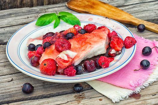 fruity jelly dessert