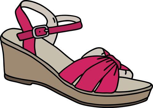 Purple high sandal