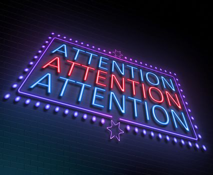 Attention sign concept.