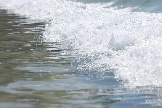 Wave on seashore