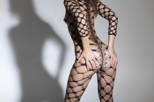 slim woman in a bodysuit
